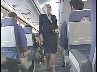 Blonde Handjob Uniform Stewardess