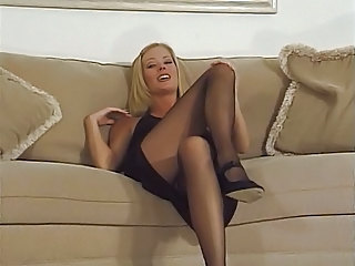 Blonde Femdom Stockings Stockings