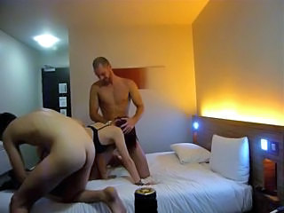 HiddenCam Homemade Threesome Hidden Hotel Hotel