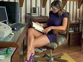 Glasses Spanish Teacher Babe Ass European