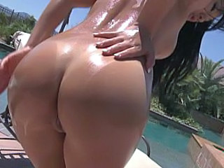Ass Oiled Outdoor Pool Outdoor Oiled Ass