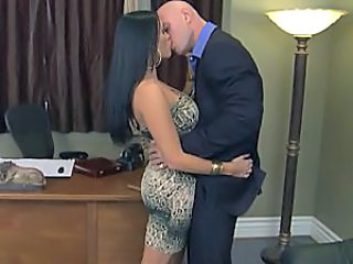 Amazing Brunette Kissing  Office Milf Office Boss Office Milf