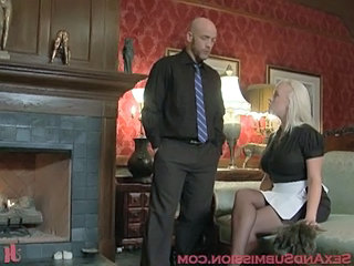 Blonde Maid Uniform Caught Forced