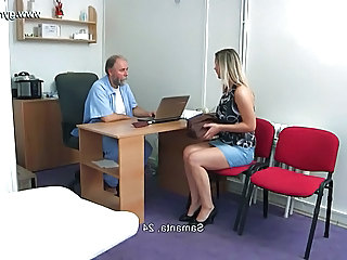 Amateur Blonde Doctor Pornstar Skirt Gyno Amateur