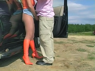 Car Handjob Outdoor Pantyhose Outdoor Pantyhose