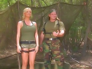 Army Babe Blonde Cute Uniform Cute Blonde