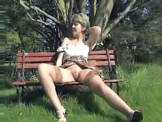 Vintage Outdoor Stockings Upskirt