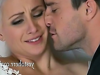 Blonde Bride Cute Forced Kissing Forced