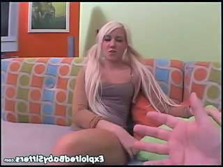 Amazing Babysitter Blonde Cute Pigtail Young Cute Blonde Cute Blowjob