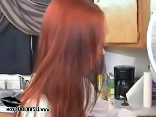 Amateur Goth Kitchen Redhead Amateur