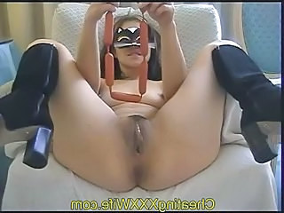 Fetish Insertion Mature  Pussy Shaved Small Tits Kinky Mask Insertion Mature Pussy Wife Milf