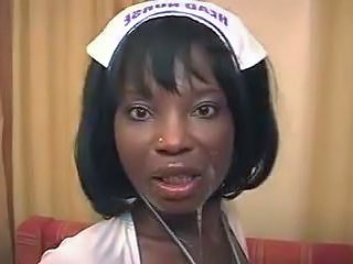 Cumshot Facial Ebony French  Nurse Uniform French Milf French