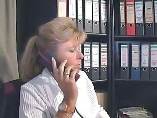 Blonde Mature Office Secretary Skinny Blonde Mature