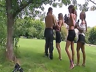 Cute French Orgy Outdoor Skirt Outdoor Orgy French