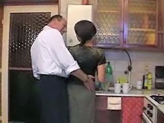 Daddy Daughter Kitchen Old and Young Pigtail Daughter Daddy Daughter Daddy Old And Young