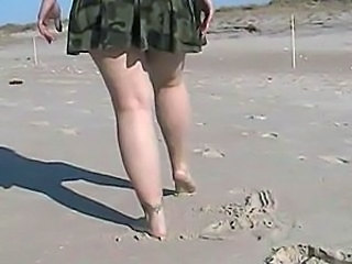 Army Beach Legs  Outdoor Outdoor Flashing Flashing Pussy Public