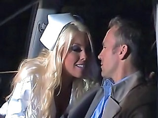 Babe Blonde Nurse Pornstar Uniform