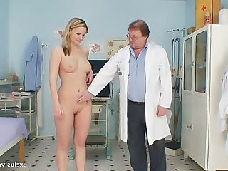 Blonde Cute Doctor Natural Uniform Cute Blonde Gyno