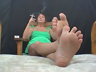 Feet Fetish Mature Smoking