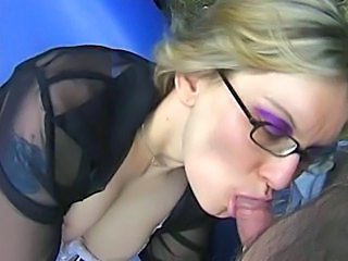 Blowjob European French Glasses European French