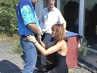 Clothed European German  Outdoor Threesome Outdoor German Milf Milf Threesome European German Threesome Milf