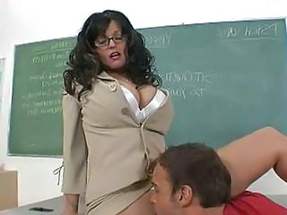 Brunette Glasses Licking  Teacher Ass Licking Milf Ass