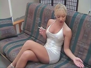 Blonde Legs  Smoking