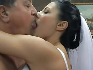 Bride Daddy Kissing  Old and Young Teen Ass Old And Young Kissing Teen