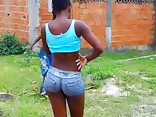 Ass Brazilian Latina Outdoor Ebony Ass Outdoor Jeans Ass
