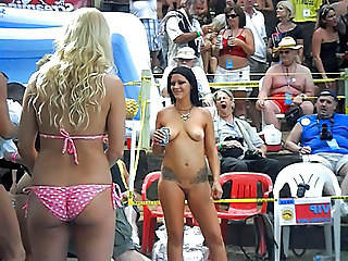 Nudist Party Public Bikini Public