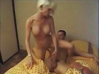 Amateur Blonde  Mom Old and Young Riding Blonde Mom Riding Amateur Old And Young Amateur