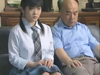 Asian Daddy Daughter Japanese Old and Young Student Uniform Old And Young Japanese School School Japanese