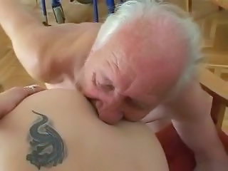 Daddy Licking Old and Young Tattoo Old And Young Ass Licking Amateur