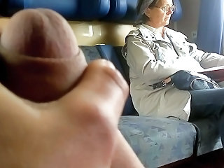Man Public Train Handjob Mature Public