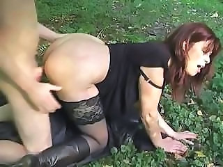 Doggystyle Hardcore  Outdoor Stockings Clothed Fuck Old And Young Outdoor