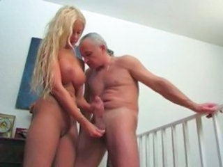 Amazing Big Tits Blonde Daddy Daughter Handjob Old and Young Old And Young