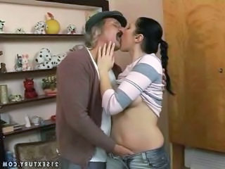Daddy Kissing Old and Young Teen Daddy Grandpa Daddy Old And Young Kissing Teen Dad Teen