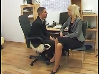 Office Secretary German Blonde German