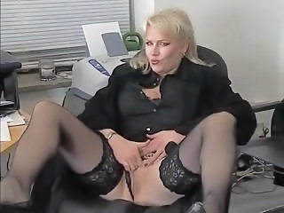 Mature Office Secretary Stockings German