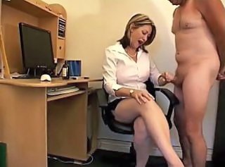Handjob  Office Secretary Cfnm Handjob Domination Milf Office Office Milf