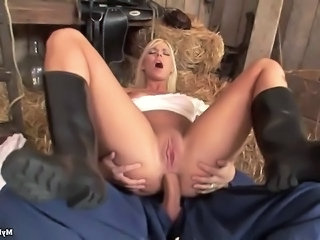 Anal Blonde Cute Farm Maid