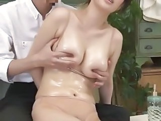Asian  Natural Nipples Oiled Milf Asian