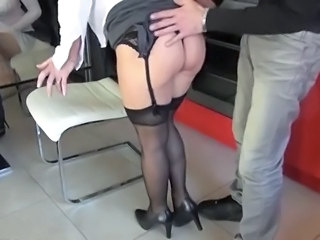 Ass European French Mature Stockings French