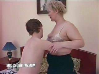Amateur Blonde Chubby Mature Mom Old and Young Son