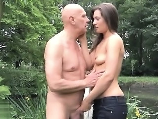 Daddy Daughter Handjob Old and Young Outdoor Italian