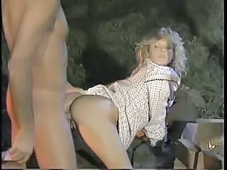 Amazing Blonde Clothed Doggystyle  Outdoor Pornstar Vintage