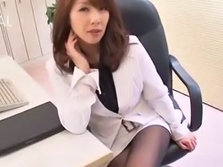 Amazing Asian Japanese  Office Pantyhose Secretary Pantyhose