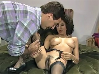 Brunette Hairy  Pornstar Stockings Vintage Wife Nylon
