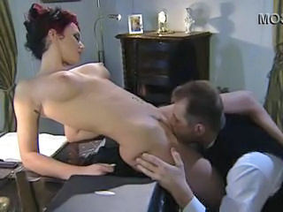 Amazing Licking Office Pornstar Redhead Vintage Hotel