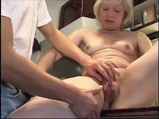 Blonde Kitchen Mature Mom Old and Young Pussy Small Tits Crazy